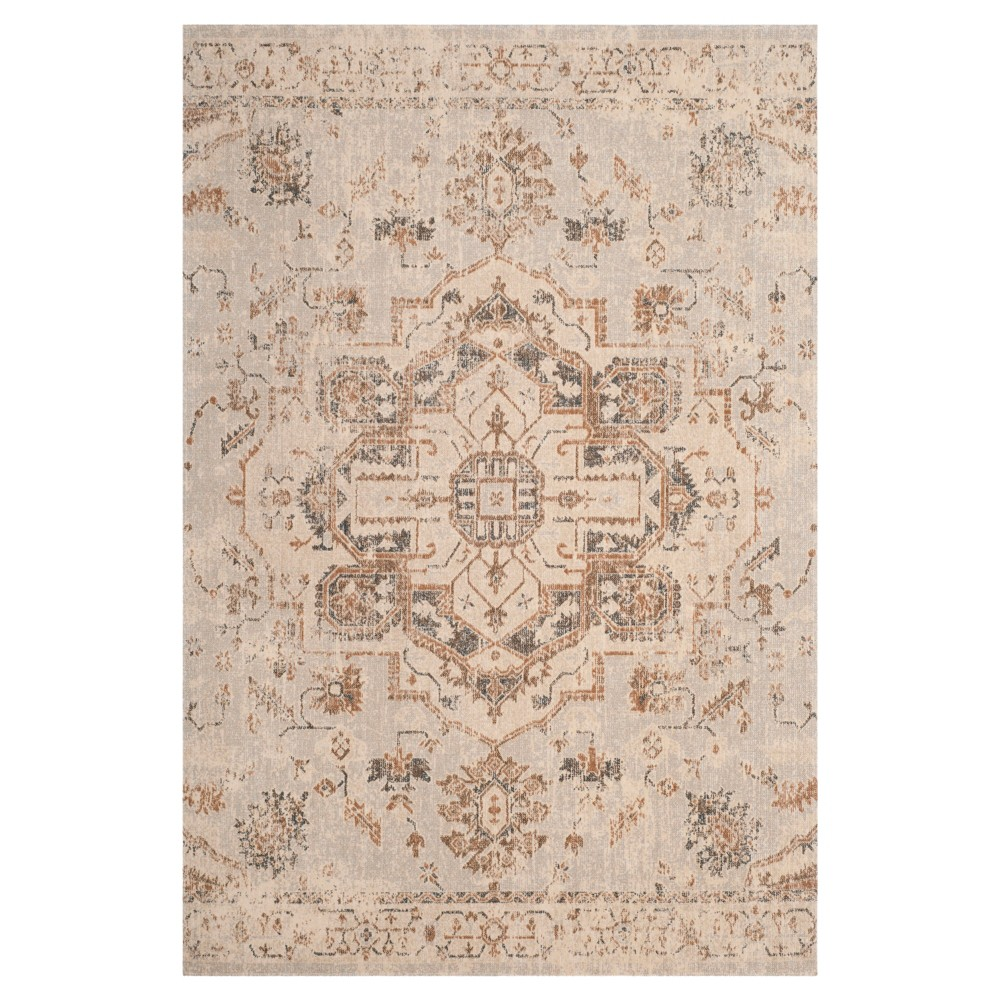 Light Blue/Beige Medallion Loomed Area Rug 8'X10' - Safavieh, Blue Beige