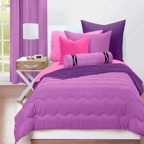 Crayola Violet Comforter Sets, Light Purple Queen Bed Set