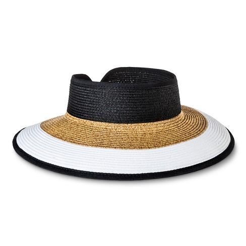 Women s Roll Up Visor Wrap Hat - Merona™ Black   Tan   White Striped    Target fc604ec3868