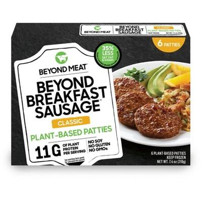 Beyond Meat Plant-Based Original Breakfast Sausage Patties - Frozen - 7.4oz