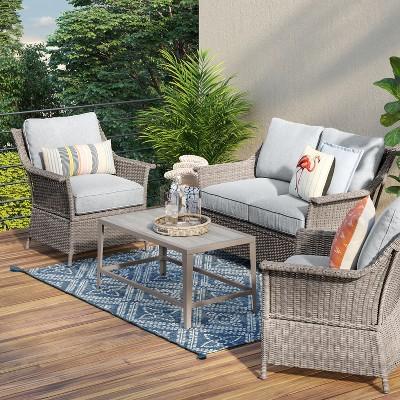 foxborough traditional patio loveseat threshold target rh target com threshold patio furniture replacement cushions threshold patio furniture replacement cushions
