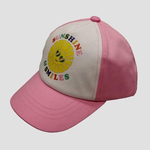 7eb2e86b97e Baby Girls  Sunshine   Smiles Baseball Hat - Cat   Jack™ Pink 12-24M    Target