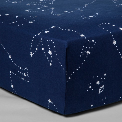 Fitted Crib Sheet Constellation - Cloud Island™ Navy - image 1 of 2