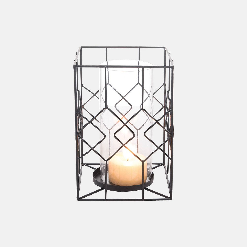 Large Diamond Wire Candle Holder - Foreside Home & Garden