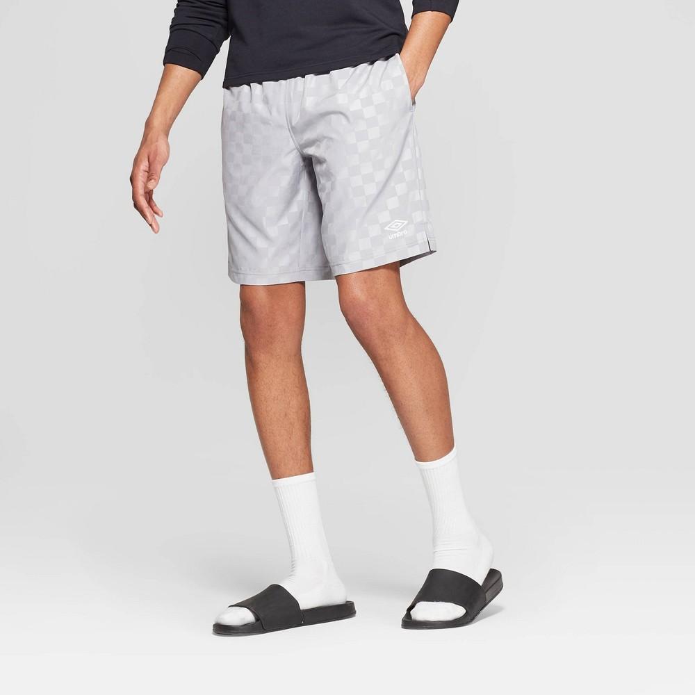 Umbro Men's Checkerboard Shorts - Sleet M