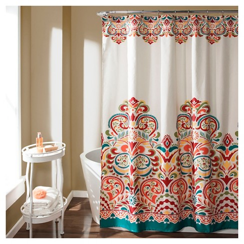 Clara Shower Curtain Turquoise - Lush Décor - image 1 of 3