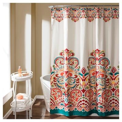 Merveilleux Clara Shower Curtain Turquoise   Lush Décor