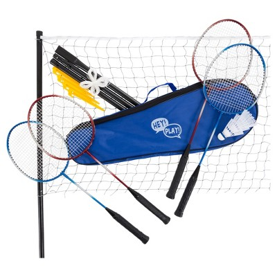 Hey! Play! Badminton Set Complete Outdoor Game