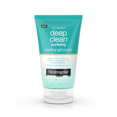 Facial Cleanser: Neutrogena Deep Clean Purifying Cooling Gel Scrub