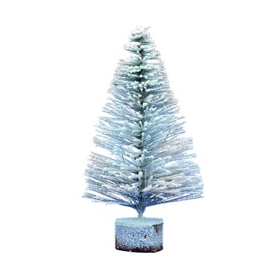 Vickerman Flocked Village Tabletop Artificial Christmas Tree
