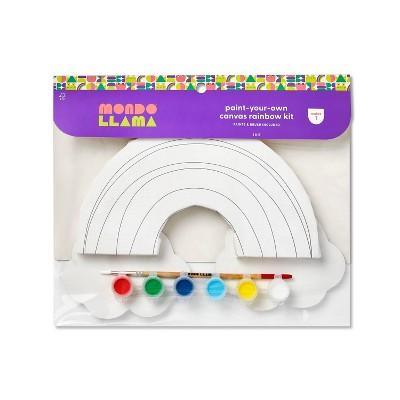 Paint-Your-Own Canvas Rainbow Kit - Mondo Llama™