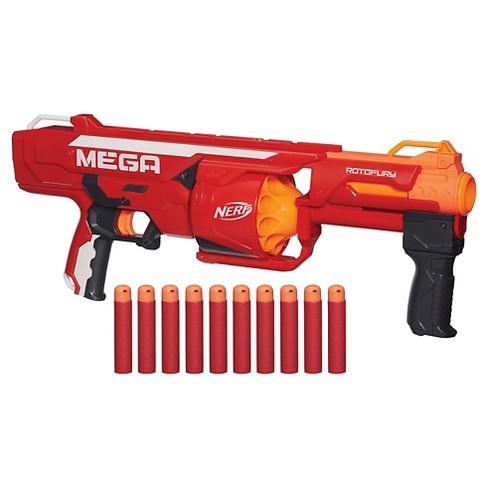 nerf n strike mega series rotofury blaster target