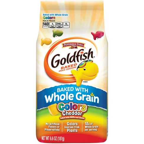 Pepperidge Farm® Goldfish® Baked with Whole Grain Colors Cheddar Crackers, 6.6oz Bag - image 1 of 6