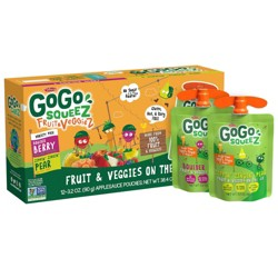 GoGo SqueeZ Variety Fruit and Veggies Applesauce On-The-Go Pouch - 38.4oz