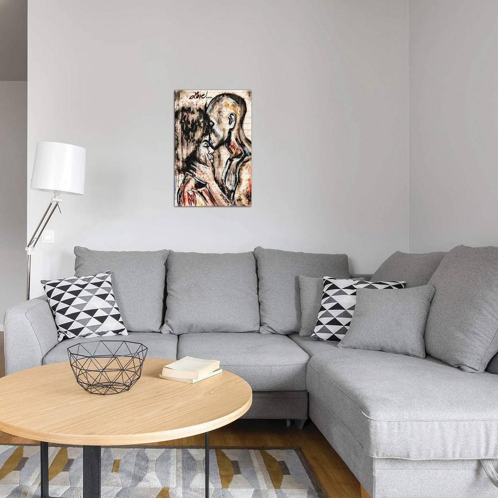 18 34 X 12 34 Love Story By Artist Ria Unframed Wall Canvas Print Icanvas
