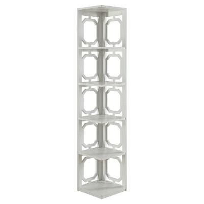 """Omega 5 Tier Corner Bookcase 63.75"""" - Convenience Concepts®"""