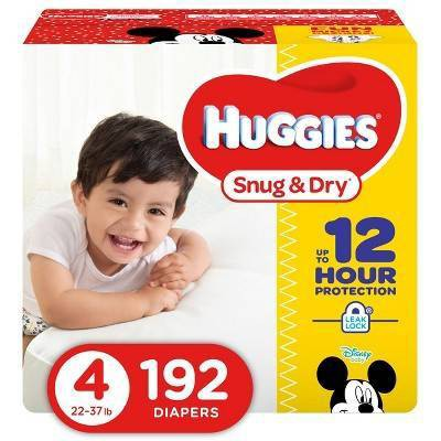 Huggies Snug & Dry Diapers - Size 4 (192ct)