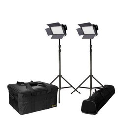 Ikan Featherweight Daylight LED 2-Point Kit, Includes 2x IFD576 LED Lights, 2x AC Adapter + Power Cord, 2x Remote Control, 2x Yoke, 2x AB Mount Plate