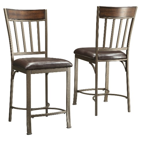 "24.5"" Harston Counter Stool Metal/Pewter (Set of 2) - Inspire Q - image 1 of 3"
