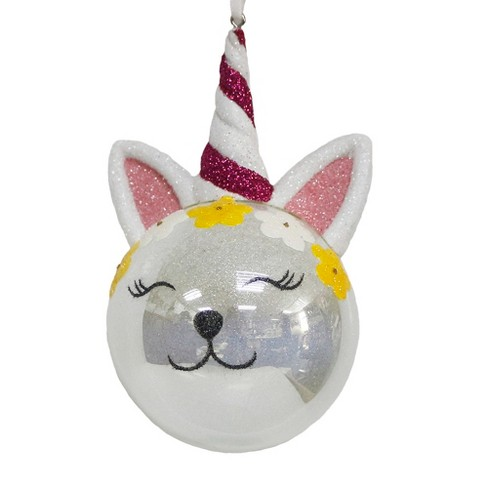Crown Christmas Ornaments.Unicorn Cat With Flower Crown Christmas Ornament Wondershop