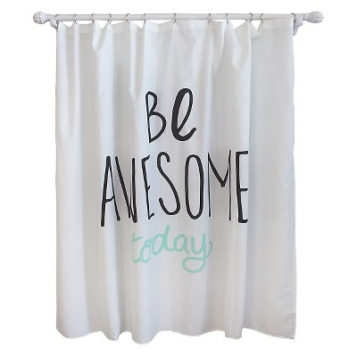 Be Awesome Shower Curtain Lime - Pillowfort™