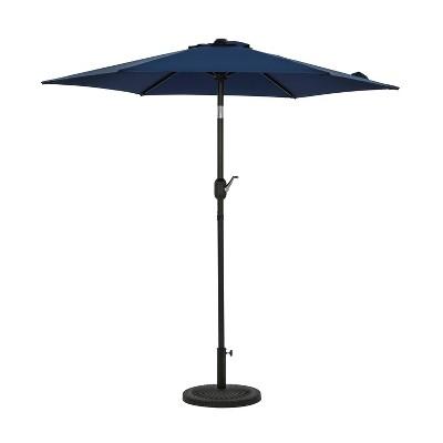 7.5' Bistro Market Patio Umbrella Navy - Island Umbrella