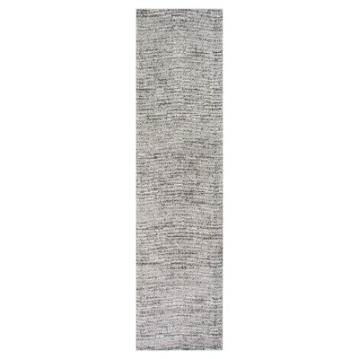 Sterling Gray Solid Loomed Runner - (2'5 x9'5 )- nuLOOM