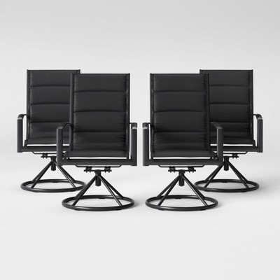 Avalon 4pk Sling Swivel Rocker Patio Dining Chair Black   Project 62™