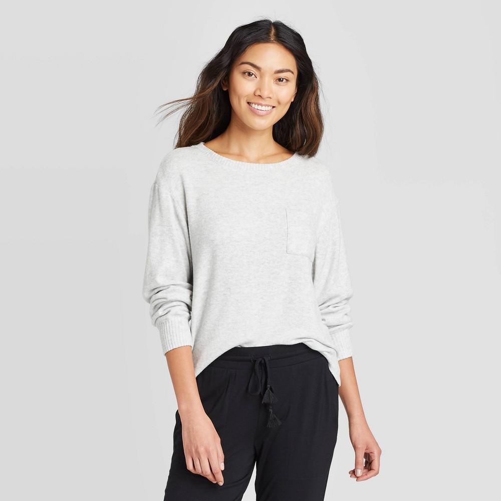 Women 39 S Perfectly Cozy Lounge Sweatshirt Stars Above 8482 Light Gray Xl