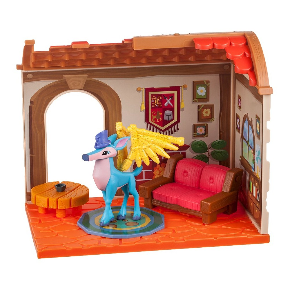 Animal Jam - Small House Den with Limited Edition Winged Deer, Multi-Colored