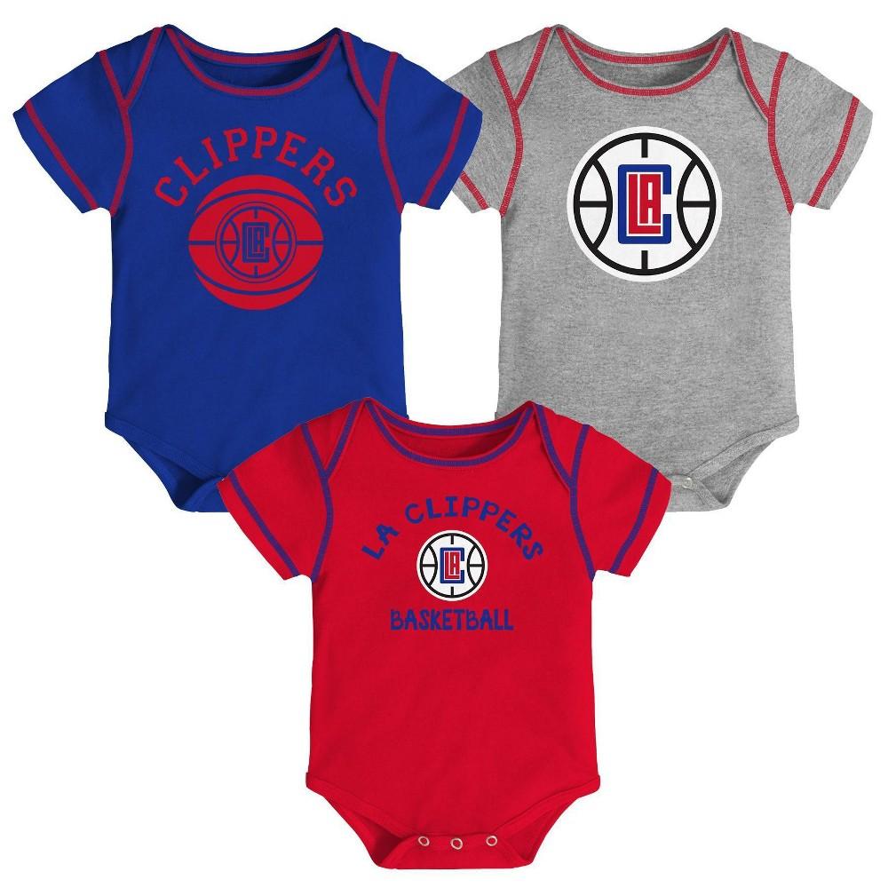 Nba Los Angeles Clippers Baby Boys 39 Rookie Bodysuit Set 3pk 0 3m