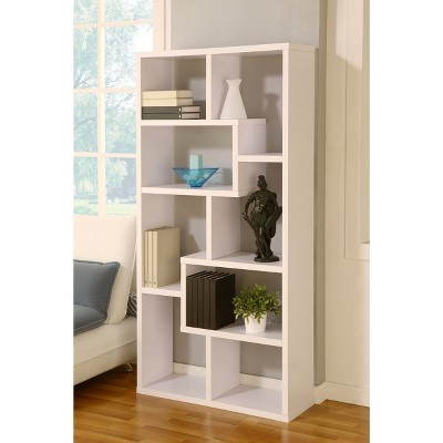 """71"""" Highpoint Contoured Bookcase White - IoHOMES : Target"""