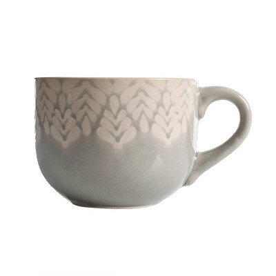 Cravings by Chrissy Teigen 20oz Ceramic Mug Gray/White