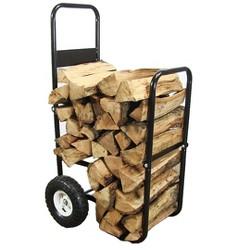 Heavy-Duty Steel Firewood Log Cart - Sunnydaze Decor