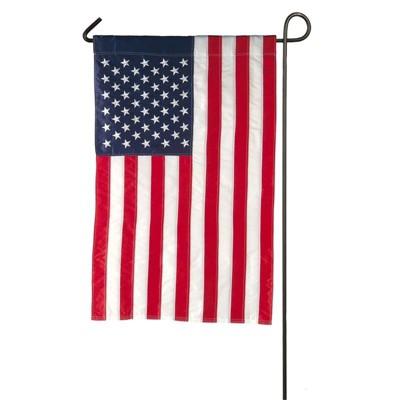 Evergreen Flag American Flag Garden Applique Flag