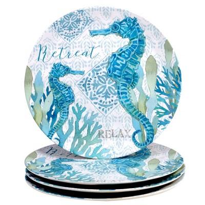 """11"""" 4pk Melamine Beachcomber Dinner Plates - Certified International"""