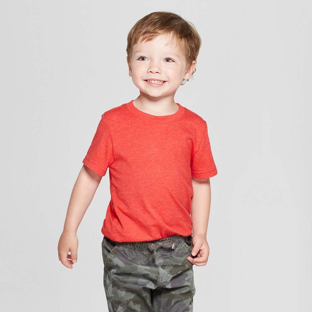 Toddler Boys' Short Sleeve T-Shirt - Cat & Jack Red 12M