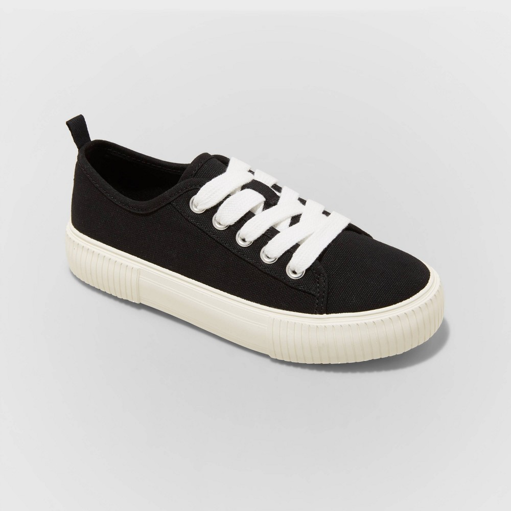 Girls 39 Pascale Lace Up Sneakers Cat 38 Jack 8482 Black 1