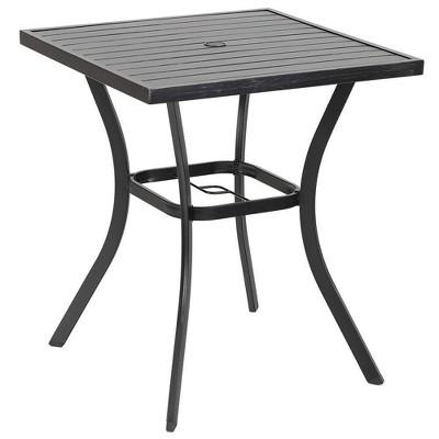 "31"" Square Bar Table with Umbrella Hole - Captiva Designs"