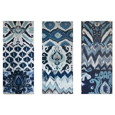 Flourish Ikat Gel Coat Canvas 3 Piece Set