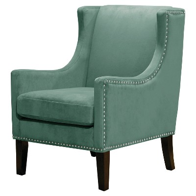 Merveilleux Jackson Wingback Chair   Velvet Teal   Threshold™