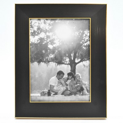 5  x 7  Single Photo Frame Black/Brass - Threshold™