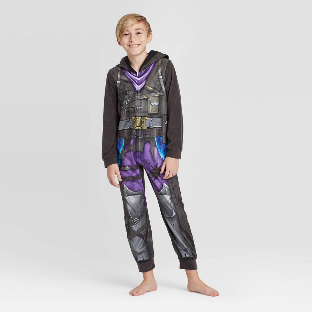Image of Boys' Fortnite Blanket Sleeper Pajama - Gray 12, Boy's