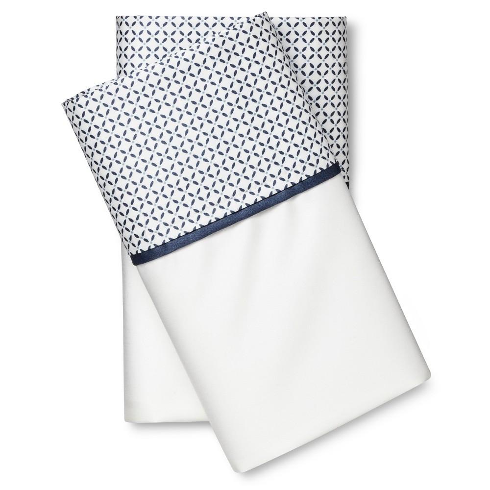 Performance Pillowcase Set (Standard) Blue Hem 400 Thread Count - Threshold