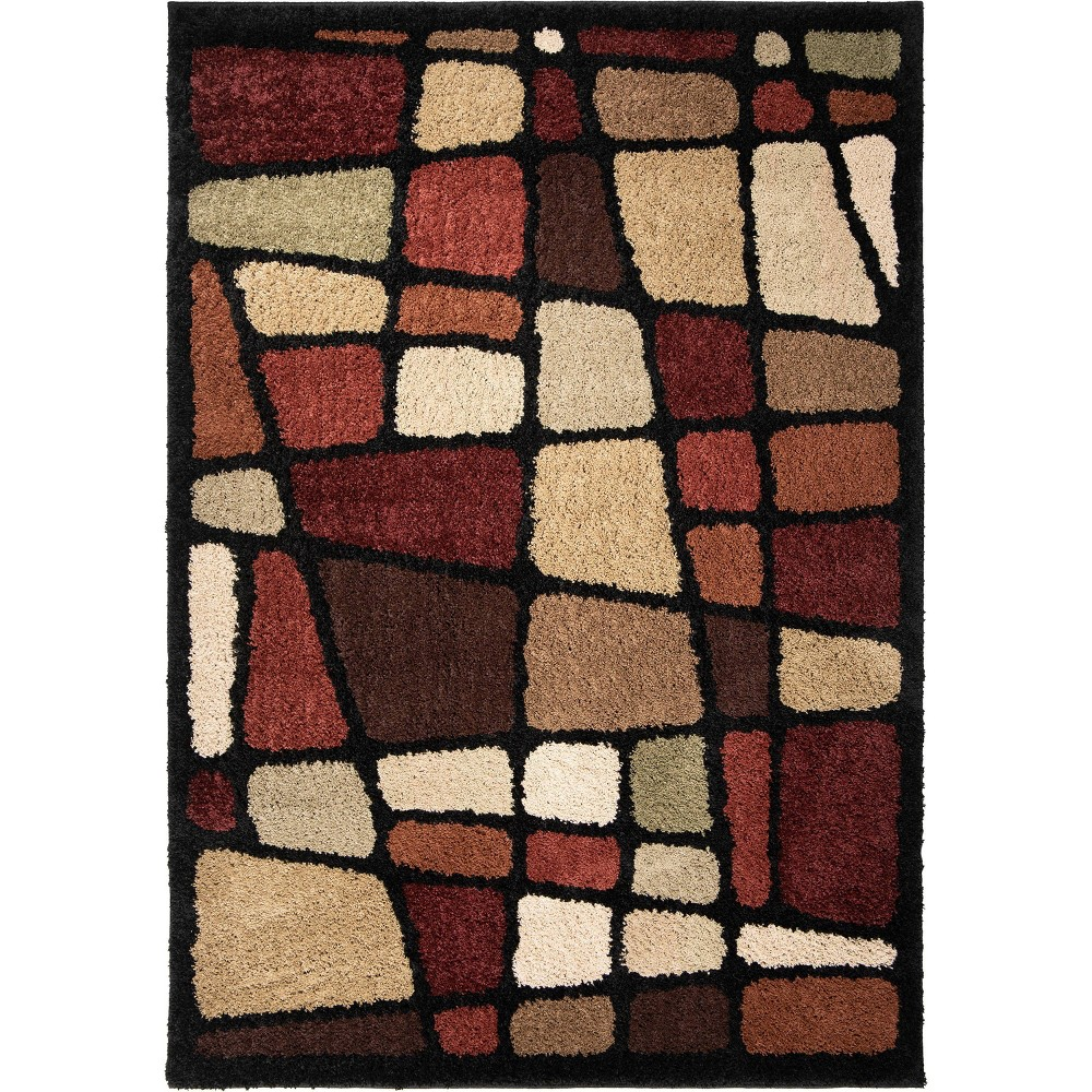 """Image of """"Abstract Woven Accent Rug - (2'7""""""""x3'9"""""""") - Orian"""""""