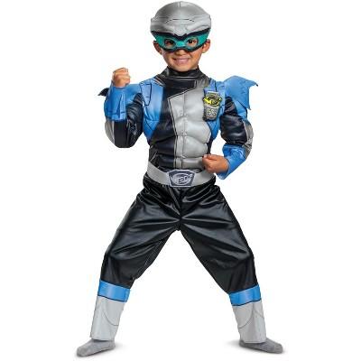Power Rangers Silver Ranger Beast Morphers Toddler Muscle Costume