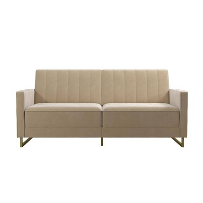 Skylar Coil Futon Modern Sofa Bed and Couch - Novogratz