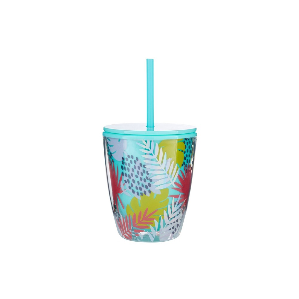 "Image of ""Parker Lane 10oz Double Wall Tumbler """"Cheers Dears"""" Turquoise"""