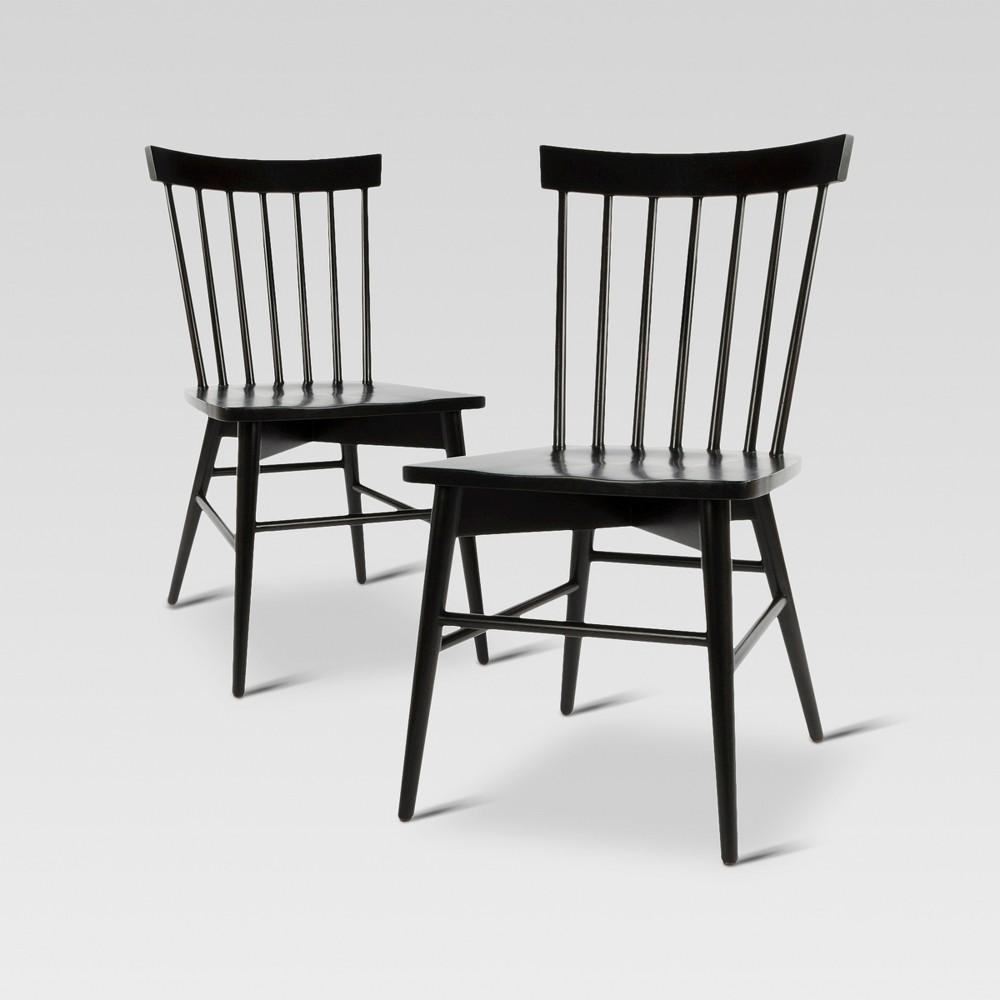 Windsor Dining Chair - Black (Set of 2) - Threshold