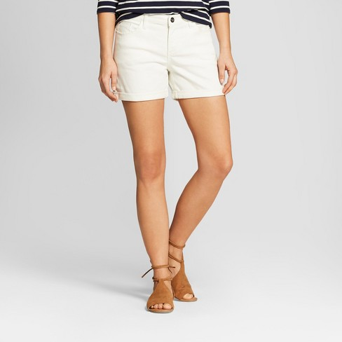 Women's Mid-Rise Roll Cuff Jean Shorts - Crafted by Lee White - image 1 of 2